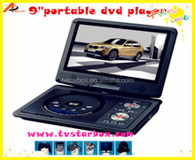 factory price 9inch screen portable evd dvd player with tv tuner fm 3d game portable dvd player