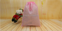 Promotional Drawstring Bag Non Woven For Shopping Laundry