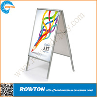 Portable aluminum poster pavement a board sign