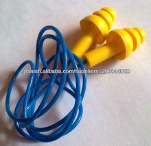 tapón auditivo reutilizables de silicona con hilo