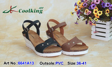 2015 New style fashion famous design Coolking PVC Slippers New design Woman Wedge sandals