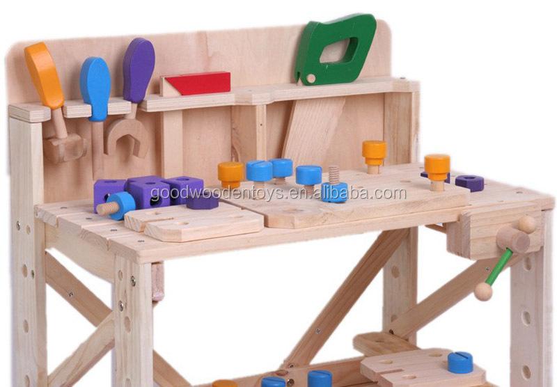 fingen jugar gran banco de trabajo de juguete para nios de madera con de mesa