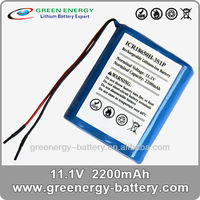dual sim long life batteries 11.1v 2200mah 18650 li-ion battery pack