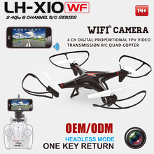 X10WF 2.4G 4ch 6axis Gyro iPhone/iPad/Android Popular RC Quadcopter Model Camera Drone Iphone