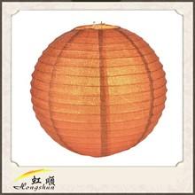 """12"""" Burrt Orange Glitter Round Paper Lantern Party City"""