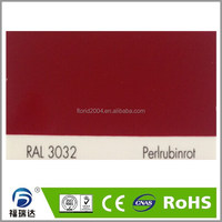powder coating indoor interior PE-EP semi smooth surface RAL3032 Pearl ruby red