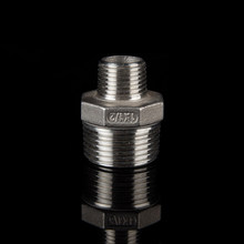 threaded reducing hexagon nipple,forged high pressure stainless steel pipe fitting