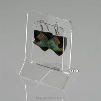 trendy single clear acrylic girls hanging earring holder