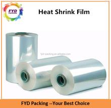 Guangdong soplado de PVC del encogimiento del calor de película de plástico para impresión de etiquetas