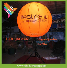 Wedding party decorations Inflatable LED light balloon with tripod holder