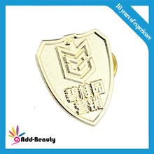 Sandblast backside pin art and pin buckle with lapel pin