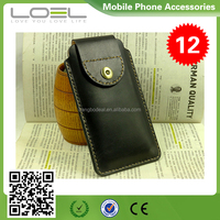 Leather bag case for iphone 4 5 6 plus , hight quality genuine leather cases cover cell phone BO-CPI6001(19)