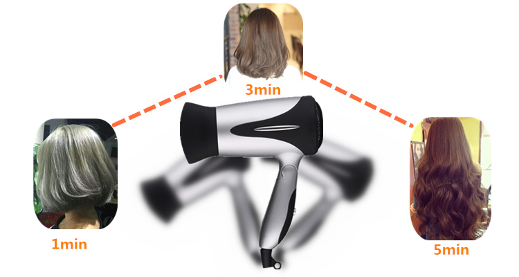 Travel 1200W 2 Speed Settings Mini household Foldable Hair Drier Manufactur hotel ionic hair dryer