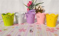 "2.5"" flower carving metal mini cute gift pot wholesale"
