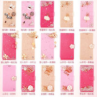 Rhinestone Mobile Phone Leather Cover for Samsung Galaxy Note 4,For Samsung Note 4 Diamond Case Made in China