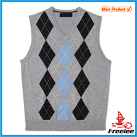 2015 V Neck Sweater Vest Wholesale, Kint Vest Pattern Sleeveless Men