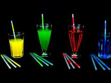 "9"" GLOW MOTION DRINKING STRAWS , different color for party (ROHS,CE,EN71,ASTMP ) glow in the dark products"