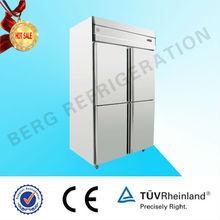 inoxidable de alcanzar en el refrigerador