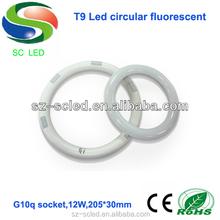 205mm 12w g10q t9 circle led tube light