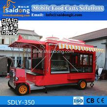 electric mobile vintage car/mobile anticient cart/electric vintage food car for multi-function