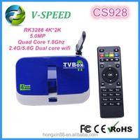 android tv box set top box RK3288 Quad Core H.265 Decoder CS928 XBMC 4k full hd porn android tv box with sim card