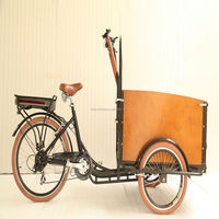 factory directly steel frame 26 inch 3 wheels 6 speeds Netherlands box tricycle bike with 4 seats