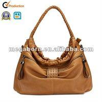 2013 Latest Fashion Brown PU Leather Hobo Bag