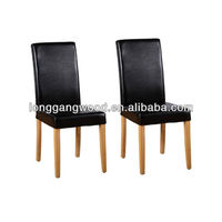 fire retardant leahter oak dining chair,wooden dining chair