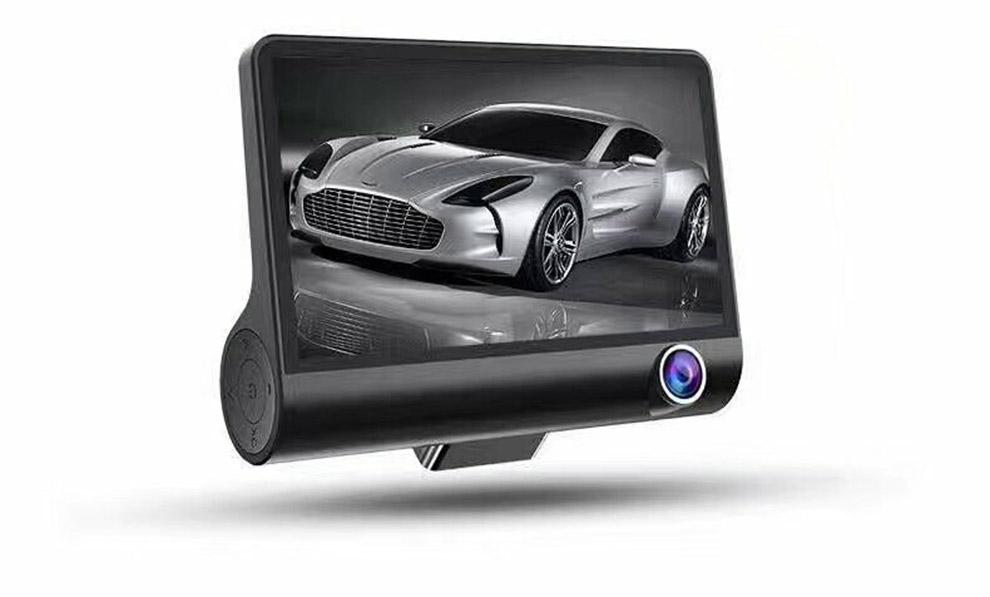 4 pouce Affichage à Trois Voies Kamera Enregistrement 170 degrés Grand Angle Vue G-capteur HD 1080 P Auto voiture Dash Cam