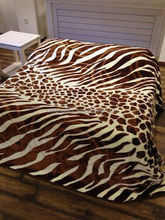100% Polyester Supersoft animal designs 2Ply 2 side printing mink blanket