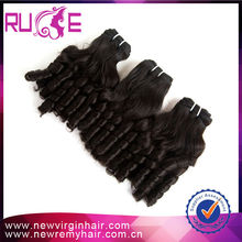 Full fix hair darling hair extension/ remy curly hair weaves darling hair weaving