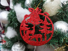 chrismas decoration, accessories,glitter colorful Milu deer forest ornaments