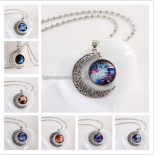 Europe and America fashion factory direct wholesales fashion time Star Moon Gemstone Necklace Series