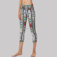 (Factory:ODM/OEM) polyester cotton spandex capri pants 002