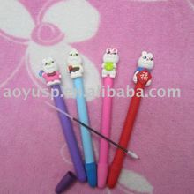 Polymer clay cute rabbit ball pens