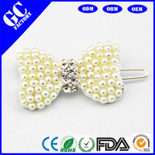wholesale cheap hair accessories made of pearl bridal hair accessories bow from factory