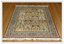 4x6Ft High End Pure Silk Handmade Used Carpet Fairs