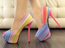 Fashion girls high heel peep toe shoes 2015 new designer womens platforms open toe high heels shoes