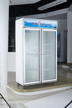 Supermarket and store used, Commercial refrigerator and Compressor refrigerator for drinks with 2 glass doors