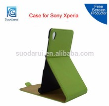 MIx colors Slim leather Flip case for Sony xperia Z2