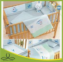Cotton embroidery baby crib bedding set