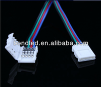 Waterproof electrical cable connector, 4 pin led strip connector, plastic power 3 pin connector