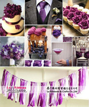 Wedding wall curtains coverings satin ribbon decoration