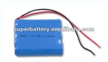 3S1P 11.1V 2000mAh 18650 Li-ion Rechargeable Battery Pack