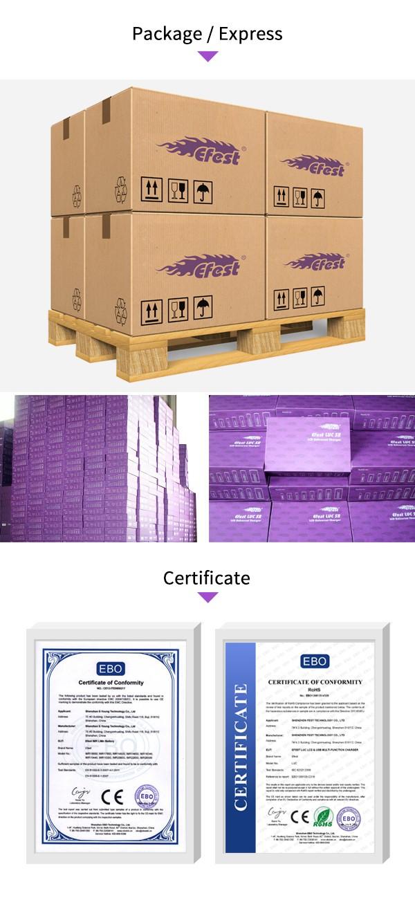 Shenzhen Efest 18650 3500 mAh 3.7 V bateria/baterias para Lanternas Recarregáveis