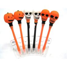 Halloween ghost laugh gift light pen, Skull music pen, pumpkin pen for gift