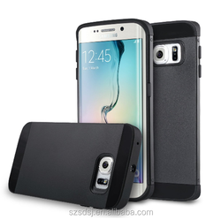 Hybrid Ultra Slim Thin Impact Hard TPU Protective Case Cover for Samsung Galaxy S6 edge with Card Slot