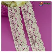 indio blanco de novia de guipur de algodón bordado de tela de encaje de ganchillo de algodón cordón trim para vestidos