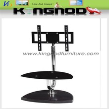 black glass and chrom support hanging tv stand