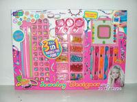 fashion toy children's make up set DIY wear bead toy beauty jewelry set